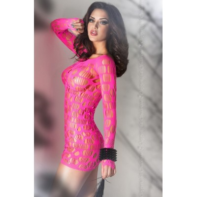 CHILIROSE Chemise perforated with strings