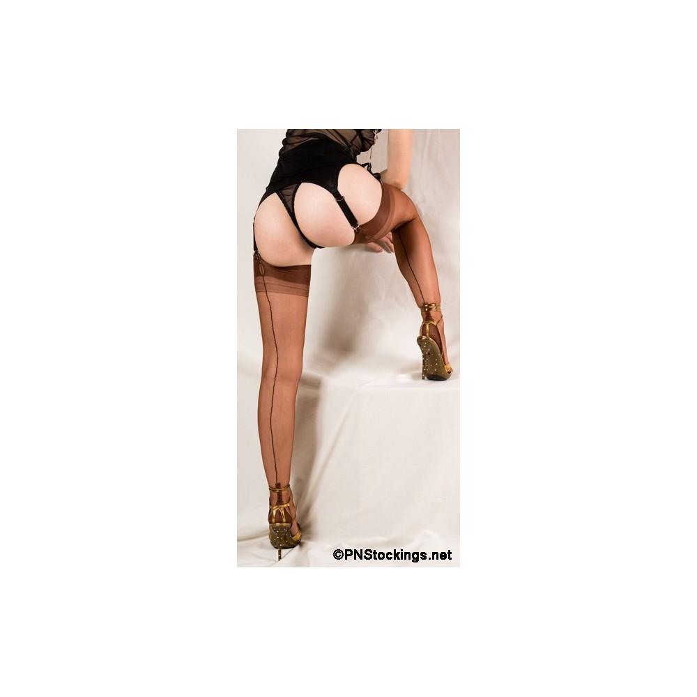Ars Vivendi Fully Fashioned Cuban Heel Copper con riga Nera
