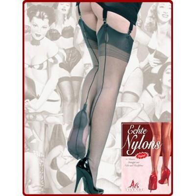 Ars Vivendi Fully Fashioned Cuban Heel Grey with black seam
