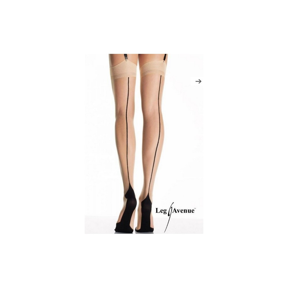 Leg Avenue Fully Fashioned Contrast Point Heel